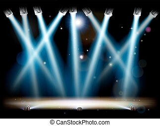 Spotlights and Footlights Stage