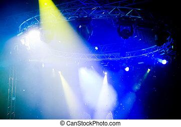 Spotlights at the concert