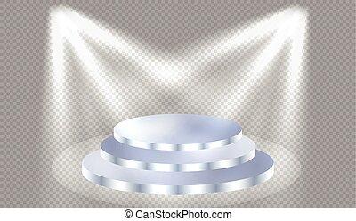 Spotlights illuminate
