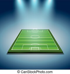 spotlights illuminated soccer field