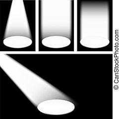 Spotlights - Illustration of the spotlights over black...
