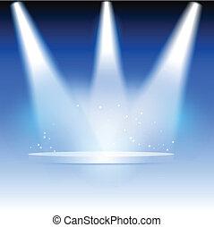 Spotlights - Illustration of three spotlights highlighting a...