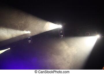 Spotlights in theatre