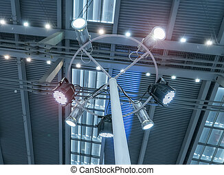 Concert stage spot lighting rigging structure for a live