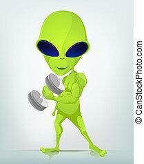 spotprent, alien