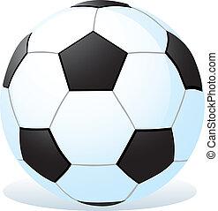 spotprent, bal, voetbal
