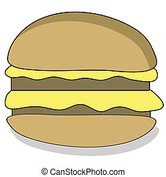 spotprent, beefburger