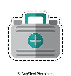 spotprent, eerste hulp, geval, medische noodsituatie