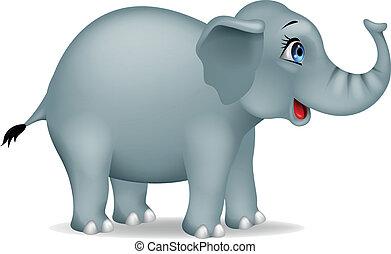 spotprent, elefant