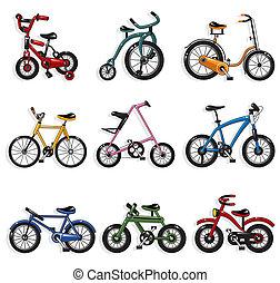 spotprent, fiets