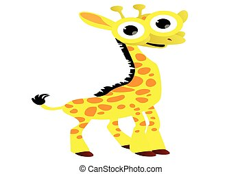 spotprent, giraffe