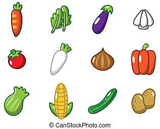 spotprent, groentes