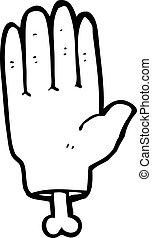 spotprent, hand
