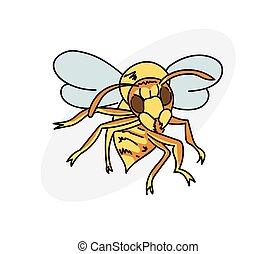 spotprent, hornet