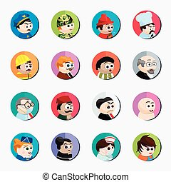 spotprent, karakters