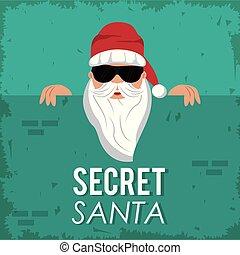 spotprent, kerstman, geheim