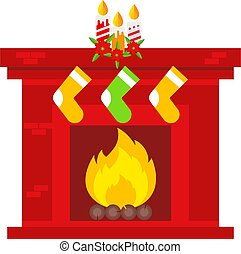 spotprent, kerstmis, illustration., scene., vector,...
