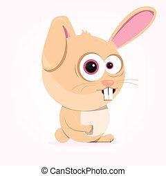 spotprent, konijn