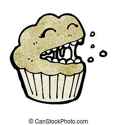 spotprent, muffin