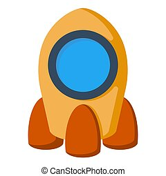 spotprent, scheeps , raket, ruimte