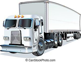 spotprent, semi vrachtwagen