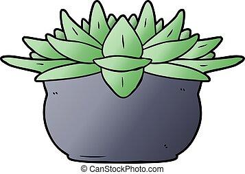 spotprent, succulent plant