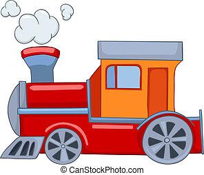 spotprent, trein