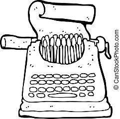 spotprent, typemachine