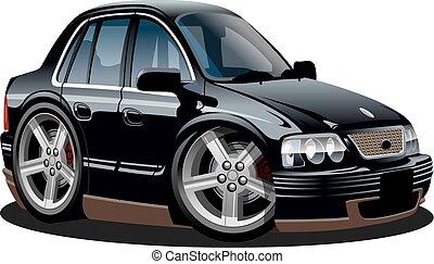 spotprent, vector, auto