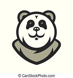 spotprent, vector, illustration., panda