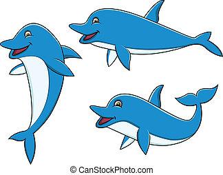 spotprent, verzameling, dolfijn
