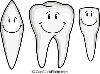 spotprent, verzameling, tand