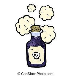 spotprent, vial, van, vergiftigen