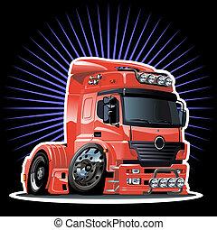 spotprent, vrachtwagen
