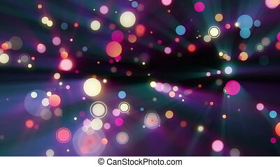 spots color circles glitter lights