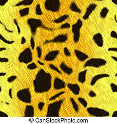 Spotted animal skin fur