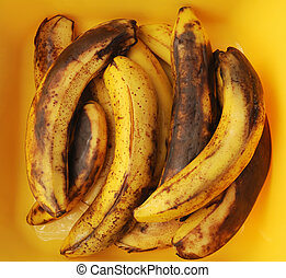 spotted bananas - lot of spotted bananas over the yellow...