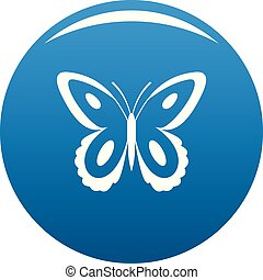 Spotted butterfly icon blue vector