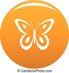 Spotted butterfly icon vector orange