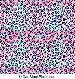Spotted Cat Pattern in Pink-Blue