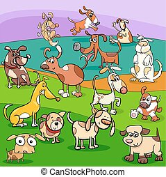 spotted dogs cartoon characters group