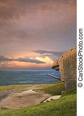 Spotting - Big german binker, toward the sea. Gold Beach,...