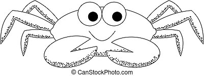 Spotty Crab - illustration of a crab