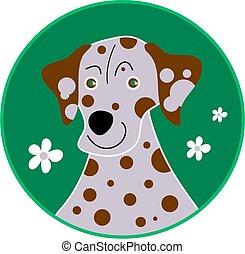 spotty dalmation - cute dalmation dog with spots