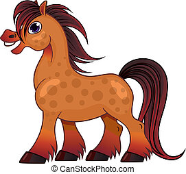 Spotty horse - Funny spotty horse. Isolated element for your...