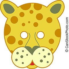 spotty leopard mask - cutout animal mask for kids