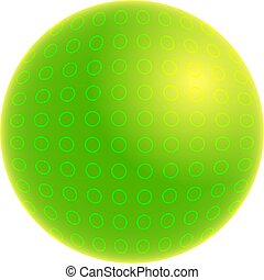 spotty world - abstract style green spotty globe isolated on...
