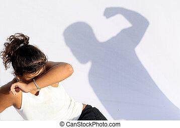 spousal, 家庭内暴力, 暴力