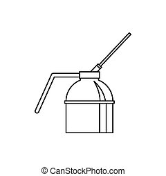 Spout oiler can applicator icon, outline style - Spout oiler...