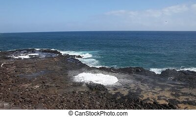 Spouting Horn Kauai - This is a video of spouting horn on...